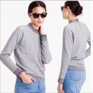 Jcrew Metallic Heathered Grey Sweater